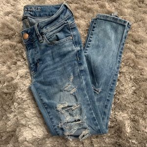 AEO 0 SHORT Super Stretch Distressed Jegging Ankle